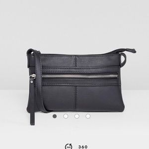 Pieces Leather Look Mini Crossbody Bag